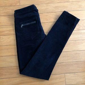 Club Monaco Soft Dark Navy Corduroy Pants